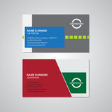 Set of two business cards - 3,5 x 2in Royalty Free Stock Photos
