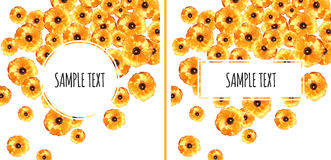 Set of Two Buttercup Backgrounds Royalty Free Stock Photo