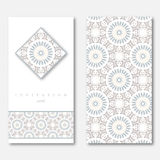 Set of two cards, template for greeting, invitation, wedding car Royalty Free Stock Image