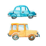 Set of two cars on white background Royalty Free Stock Image