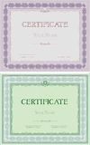 Set of two certificates in different colors Stock Photo