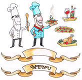 Set of two chefs Stock Image