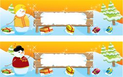 Set of two Christmas banners Royalty Free Stock Image