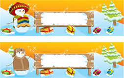 Set of two Christmas banners Royalty Free Stock Images