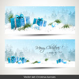 Set of two Christmas banners Royalty Free Stock Photography