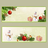 Set of two Christmas banners. Stock Photo
