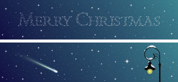 Set of two Christmas banners. Vector Illustration Royalty Free Stock Image