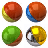 Set of two color balls Stock Photos