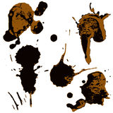 Set of two-color blots Stock Photography