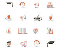Set of two-color  icons Royalty Free Stock Image