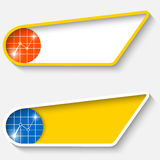 Set of two colored box for text Royalty Free Stock Photo