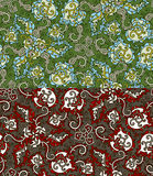 Set of two colorful seamless patterns. EPS-8. Stock Photos