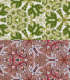 Set of two colorful seamless patterns. EPS-8. Royalty Free Stock Image