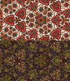 Set of two colorful seamless patterns. EPS-8. Stock Photography