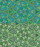 Set of two colorful seamless patterns. EPS-8. Royalty Free Stock Photography