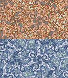 Set of two colorful seamless patterns. EPS-8. Stock Images