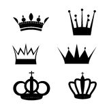 A set of two crowns stencils. On a white background Stock Photos