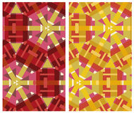 Set of two decorative patterns Stock Images