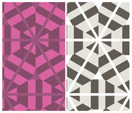 Set of two decorative patterns Stock Photo
