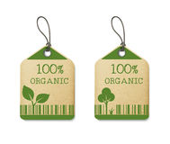 Set of two eco labels Stock Photos