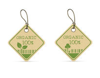 Set of two eco labels Stock Photography