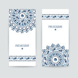 Set of two ethnic banners. Royalty Free Stock Image
