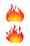 Set of two fires vector isolated on white background. Stock Photo