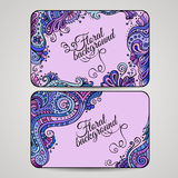Set of two floral decorative vector frames Royalty Free Stock Photo