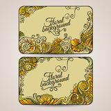 Set of two floral decorative vector frames Stock Images