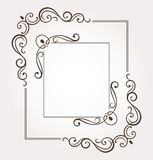 Set of two floral frames and page decoration. Vector illustration Stock Image