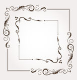 Set of two floral frames and page decoration Royalty Free Stock Photos