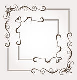 Set of two floral frames and page decoration Stock Photo