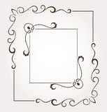 Set of two floral frames and page decoration Stock Photography