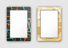 Set of Two Frames Dark Light Vector Illustration Stock Photos