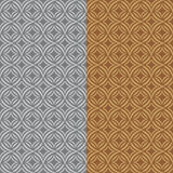 Set two fun patterns with stylized grey and brown flowers Royalty Free Stock Photos