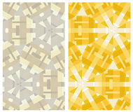 Set of two geometric patterns Royalty Free Stock Image