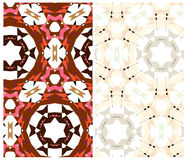 Set of two geometric patterns Stock Photos
