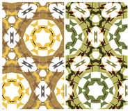 Set of two geometric patterns Royalty Free Stock Photo