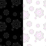 Set of two geometric patterns under the forwarding mask. Royalty Free Stock Photo