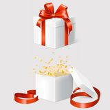 Set of two gift boxes Royalty Free Stock Images