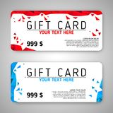 Set of two gift cards Royalty Free Stock Photo