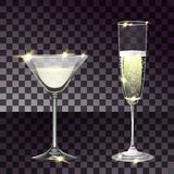 Set with two glasses Stock Images