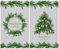 Set of two greeting cards Stock Images