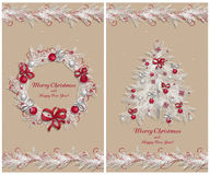 Set of two greeting cards Royalty Free Stock Photo