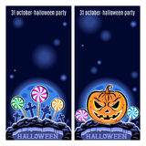 Set of two Halloween banners. Vector. Royalty Free Stock Photography