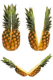 Set of Two halves of pineapple Royalty Free Stock Photography