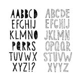 Set of two hand-drawn fonts. Vector. Royalty Free Stock Photography