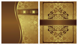 Set of two invitations Stock Photos
