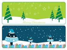 Set of two merry xmas banner Royalty Free Stock Photography