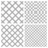 Set of Metal Grids as Seamless Background. Set of Two Metal or steel Grids as Seamless Background Stock Illustration